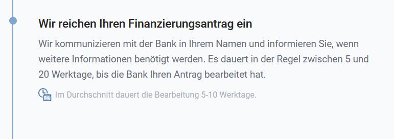 Finanzierungsabalauf Finanzierungsanfragen starten